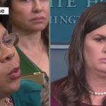 "Sarah Sanders Schools CNN Reporter Over ""Trump Resignation"""