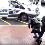 Good Samaritan's fancy footwork helps cop catch armed suspect in amazing video