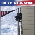 Navy SEAL Fixes American Flag Barely Hanging on Pole — The Patriot Post