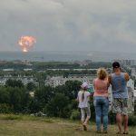 Rocket engine explosion at Russian military base kills 2, injures 4, officials say