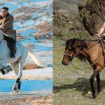 Kim Jong Un channels inner Putin, rides white horse on sacred mountain in equine propaganda shoot