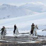 Kim Jong Un rides white horse through historic battlefields, experts see symbolism